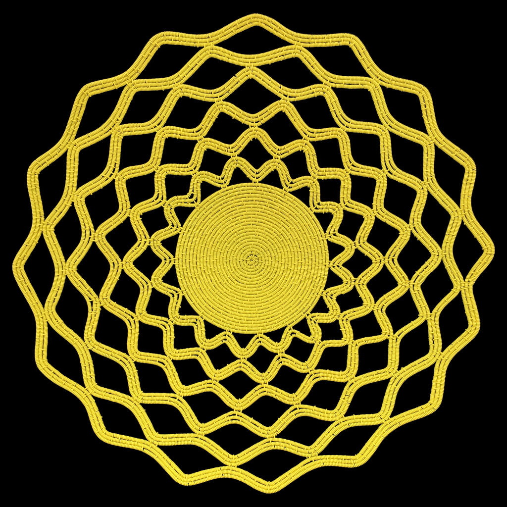 "Zenzulu<sup>™</sup> Collection Yellow ""Lace"" Platter"