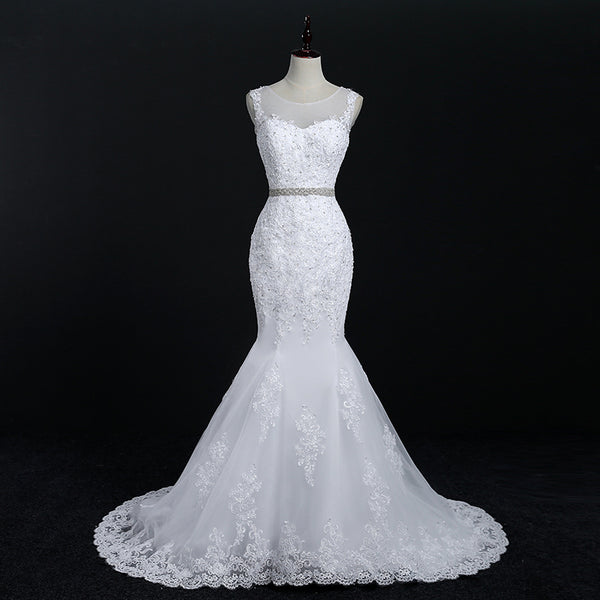 Handmade Lace Mermaid Wedding Dress
