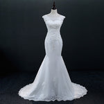 Vintage Lace Up Mermaid Wedding Dress