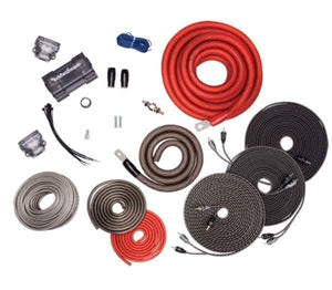 Rockford Fosgate - RFK1D 1/0 Gauge Power Kit w/ Speaker Wire & 3 x 5m RFI Series RCA & Distribution Block