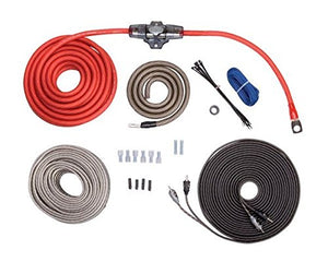 Rockford Fosgate - RFK4X 4 Gauge Power Kit w/ Speaker Wire & 1 x 5m RFI Series RCA