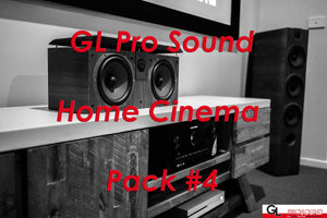 "GL Pro Sound - Home Cinema Pack 4: Focal Aria Floorstanding Fronts, Focal Aria Centre, Pair of In-Ceiling Speakers, Sub1000F Powered Subwoofer, 9.2 A/V Receiver, Projector and 100"" Fixed Frame"