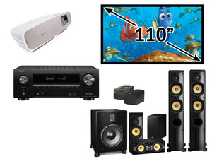 "GL Pro Sound - Home Cinema Pack 5: PSB Imagine X1T 5.1.2 Atmos Pack, 7.2 A/V Receiver, BenQ W2700 4K Projector and 110"" Fixed Frame"