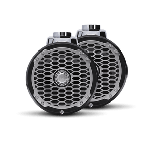 "Rockford Fosgate - 6.5"" Punch Series Marine Wakeboard Tower Speakers with Enclosure & Sports Grille - Black"