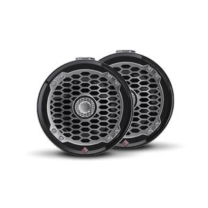 "Rockford Fosgate - 6.5"" Punch Series Marine Wakeboard Tower Speakers with Mini Enclosure & Sports Grille - Black"