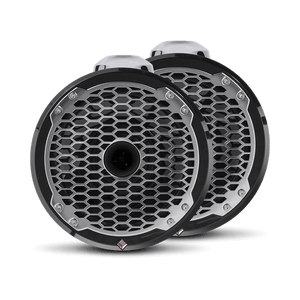 "Rockford Fosgate - 8"" Punch Series Marine Wakeboard Tower Speakers with Horn Tweeter, Enclosure & Sports Grille - Black"