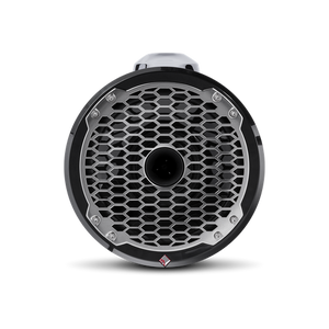 "8"" Punch Series Marine Wakeboard Tower Speakers with Horn Tweeter, Enclosure & Sports Grille - Black"