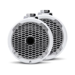 "Rockford Fosgate - 8"" Punch Series Marine Wakeboard Tower Speakers with Horn Tweeter, Enclosure & Sports Grille - White"