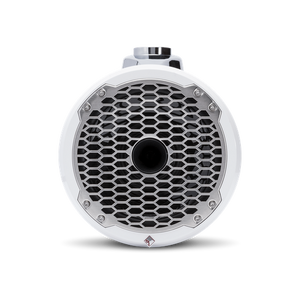 "8"" Punch Series Marine Wakeboard Tower Speakers with Horn Tweeter, Enclosure & Sports Grille - White"