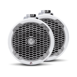 "Rockford Fosgate - 8"" Punch Series Marine Wakeboard Tower Speakers with Enclosure & Sports Grille - White"
