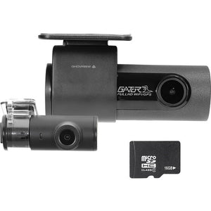Gator - Gator GHDVR95W 2-CH Dual 1080P Full HD Dash Camera (16GB)