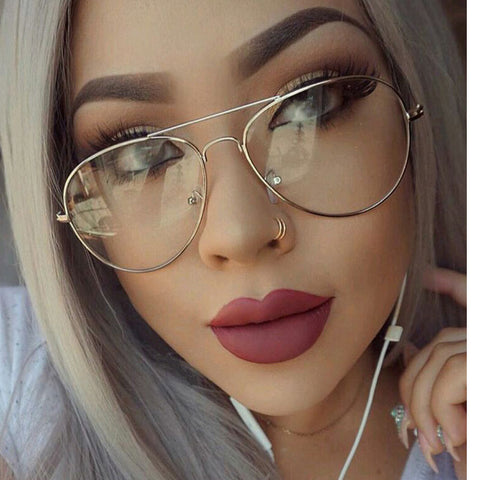 Eye Candy Transparent Non-Prescription Clear Optical Fashion Glasses