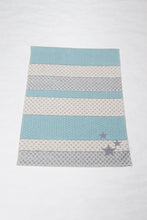 BLUE/GREY STARS LENA BASSINET BLANKET