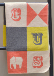 David Fussenegger Yellow Circus Patch Juwel Bassinet Blanket