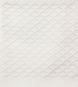Cream Lace Knit Bassinet Blanket