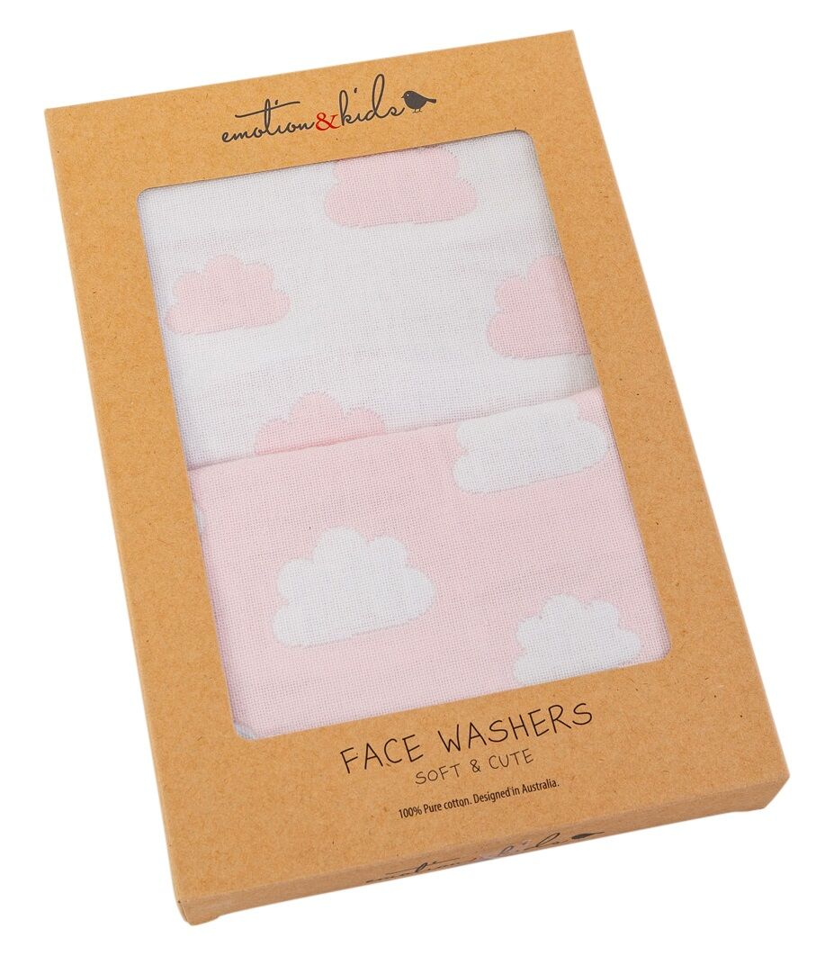 Pink Cloud Face Washer Set - 2 pack