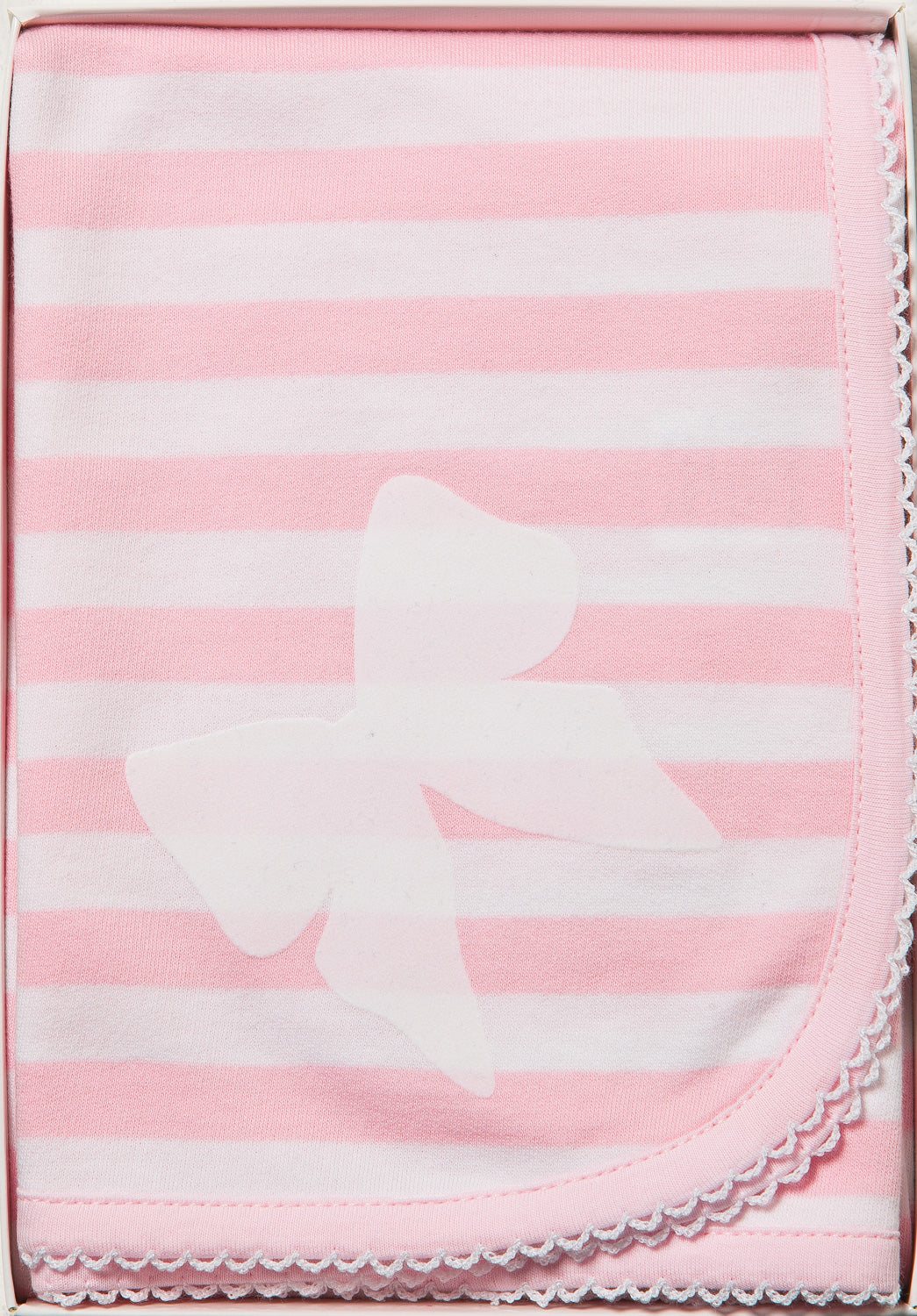 Pink Stripe with Bow Wrap