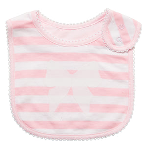 Pink Stripe with Bow Bib - 1 pc