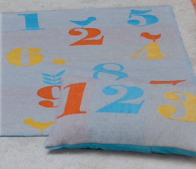 David Fussenegger Grey Numbers Finn Bassinet Blanket