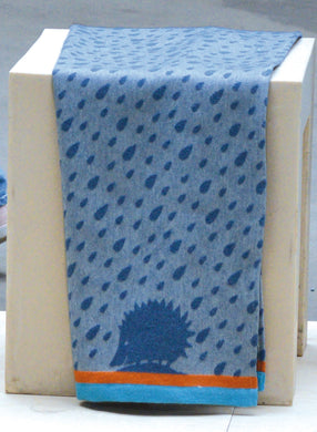 David Fussenegger Blue Hedgehog Ida Bassinet Blanket