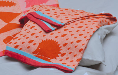David Fussenegger Orange Hedgehog Ida Bassinet Blanket