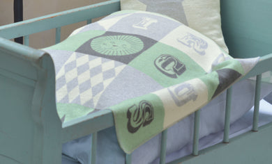 David Fussenegger Mint Circus Patch Juwel Bassinet Blanket
