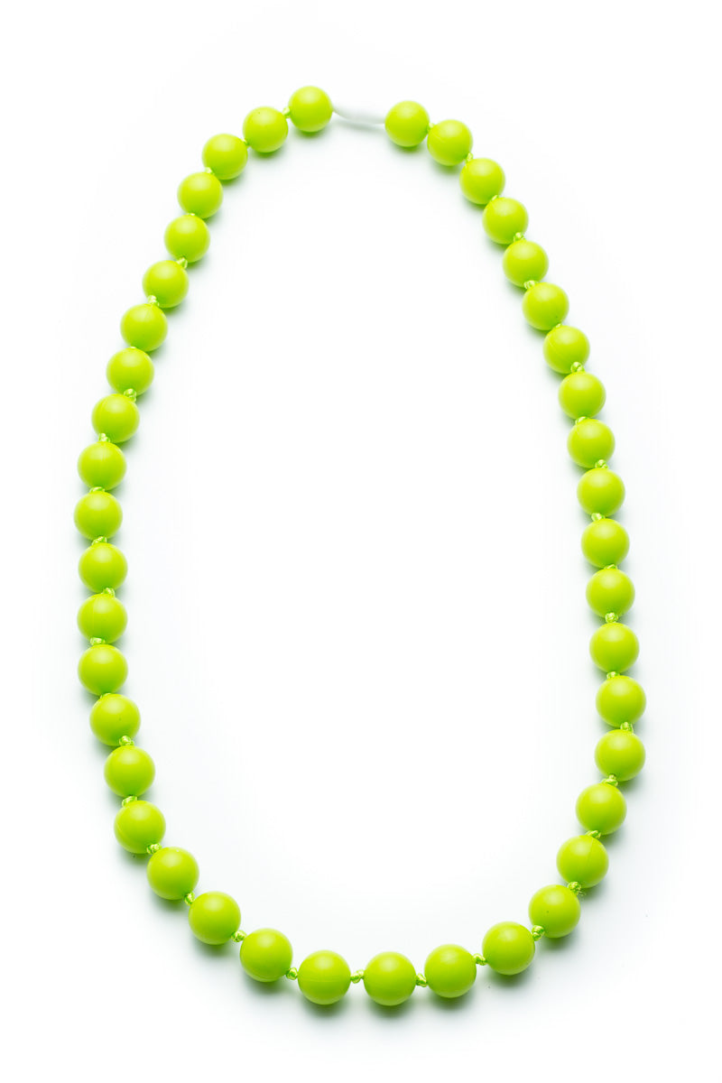 Chartreuse Jane Silicone Teething Necklace