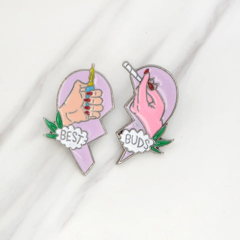 Besties Enamel Pin Duo FREE SHIPPING