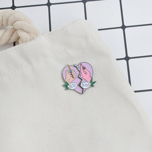 Besties Enamel Pin Duo