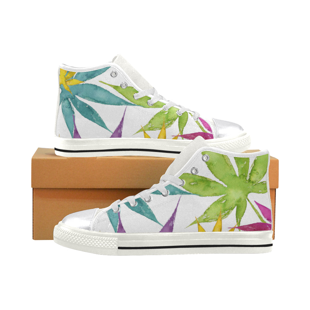 Summer White High Tops - Women's Classic Canvas High Tops
