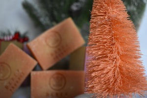 A stack of all natural organic bar soaps made with french clay from Derek Products