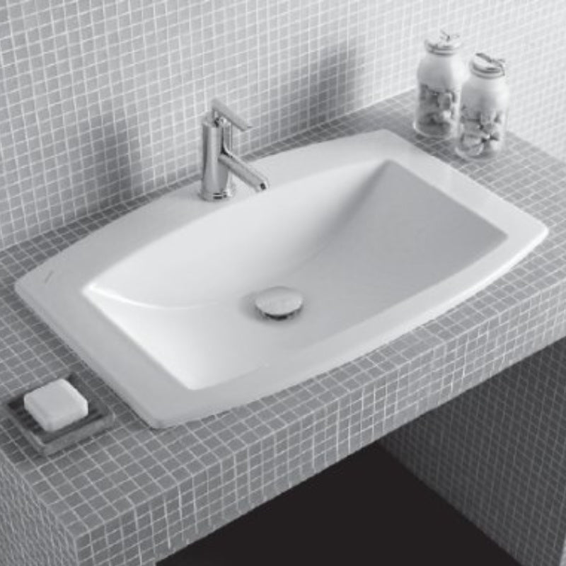 Laufen Mylife Dropin Basin & Shroud, 750x480mm - Interio International