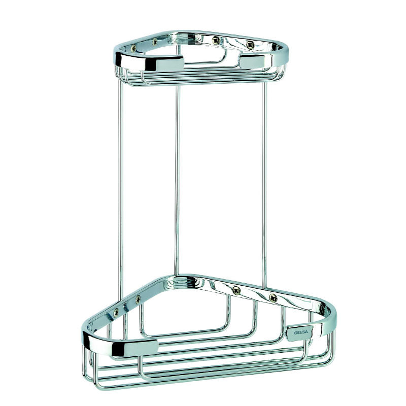Double Corner Hotel Shower Basket