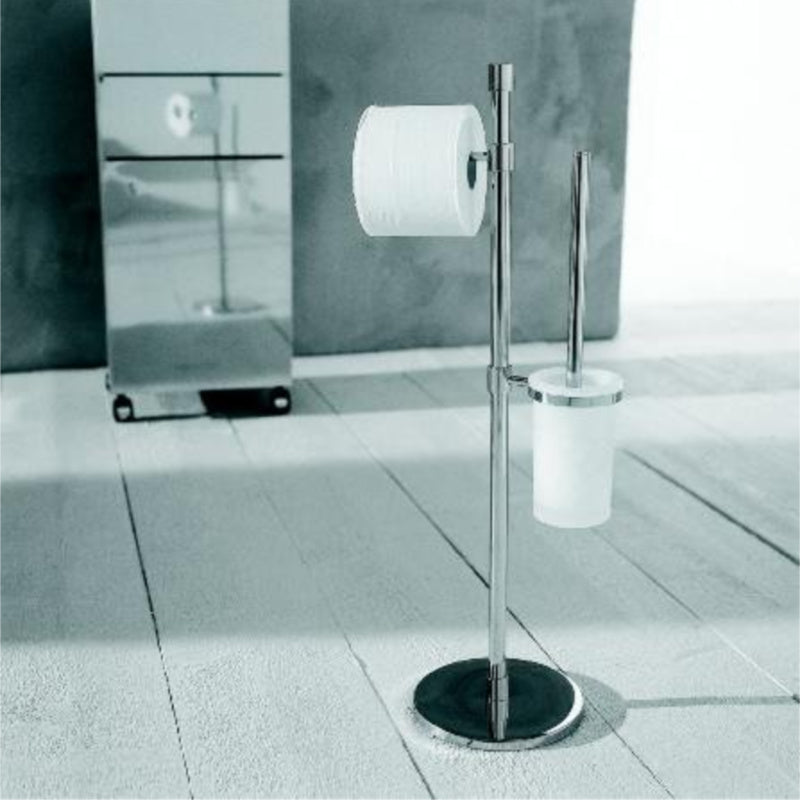 CombinationToilet Brush and Roll Holder - Floor Model - Interio International