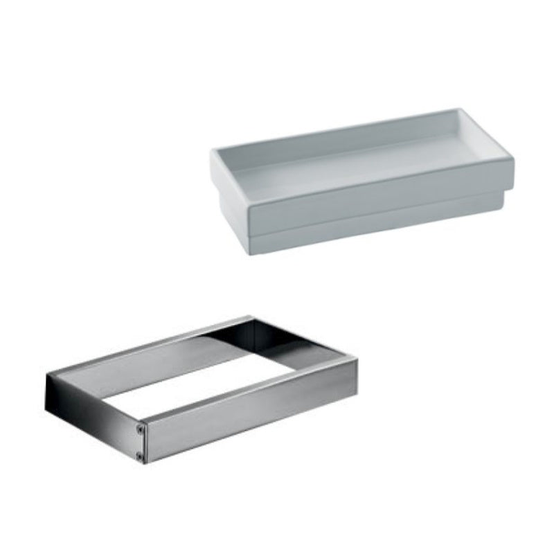 Skuara Ceramic Tray with Wall Bracket - Interio International