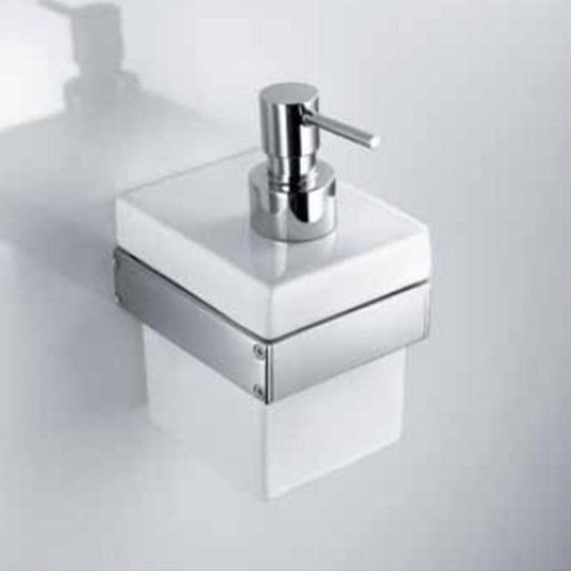 Skuara Ceramic Soap Pump with Wall Bracket