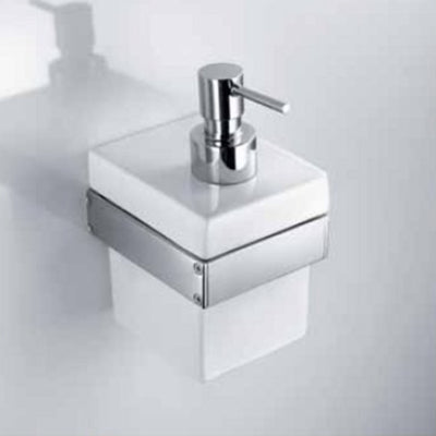 Skuara Ceramic Soap Pump with Wall Bracket - Interio International