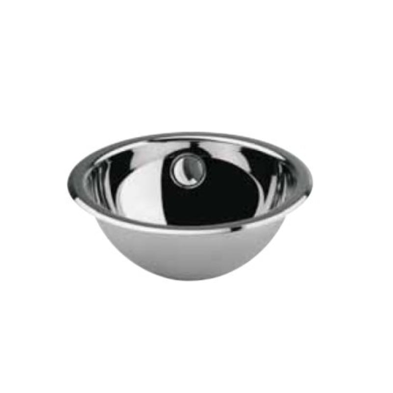 Stainless Steel Dropin Basin, Round Edge, Ø 270mm - Interio International