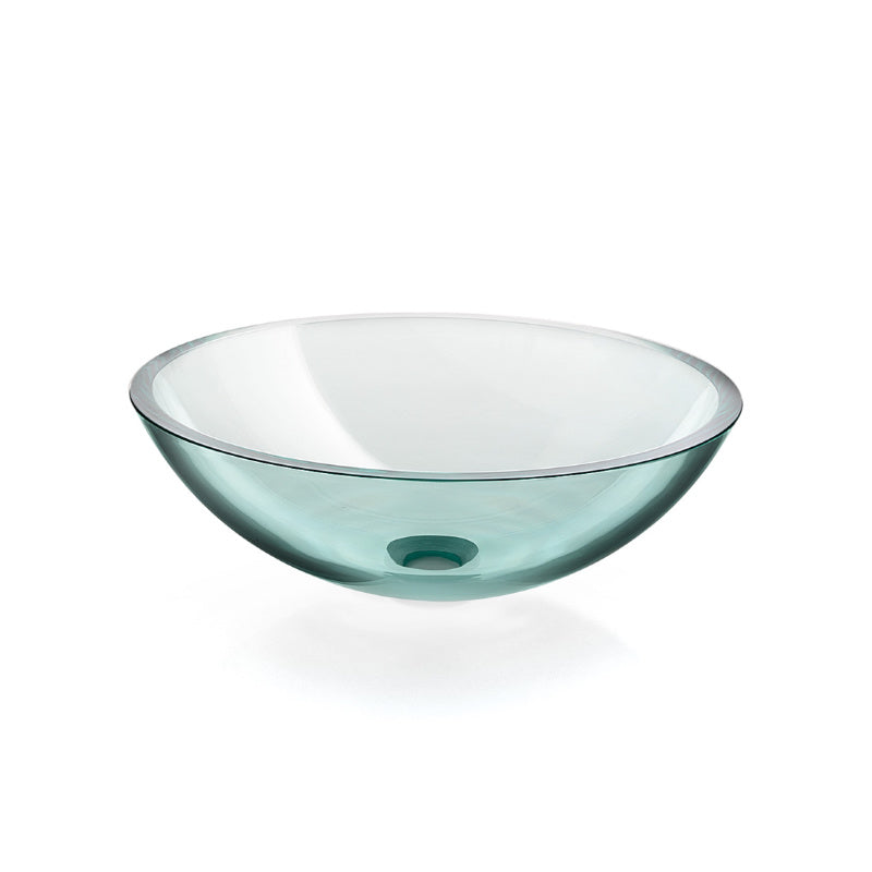 Glass Vessel Basin, Transparent, Ø 425mm - Interio International
