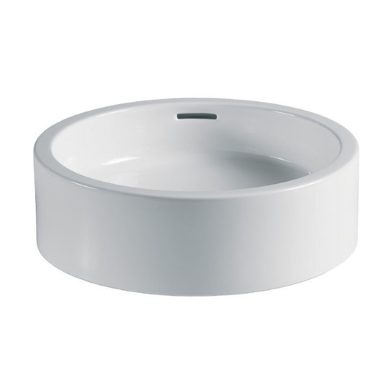 Ceramic Vessel Basin with Overflow, White, Ø 450mm - Interio International