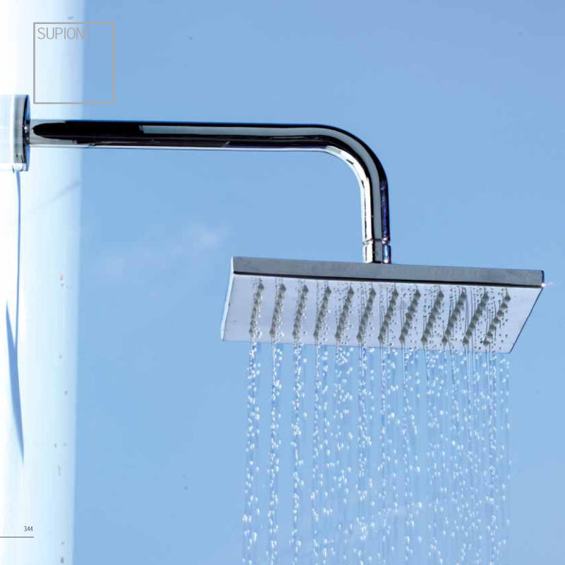 Crui Rainshower Head & Arm, Square, 200x200mm