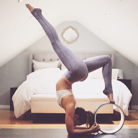 Yoga Wheel assists with advanced techniques