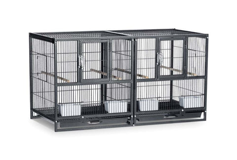 Prevue Pet Products Hampton Deluxe Divided Breeding Bird Cage bird, bird cage, breeding, cages and accessories, divided, l, stand Pets Go Here, petsgohere
