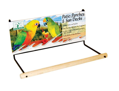 "Prevue Pet Products Wood Patio Perch SMALL 8"" perch Pets Go Here, petsgohere"