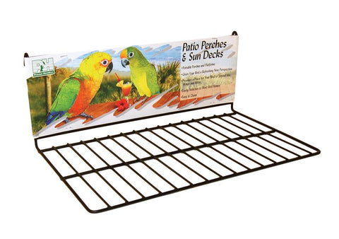 Prevue Pet Products Wire Patio Sundeck BLACK l, perch Pets Go Here, petsgohere