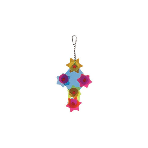 Prevue Pet Products Rainbow Acrylic Gears Bird Toy