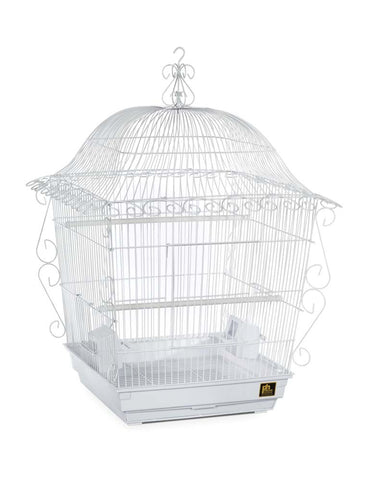 Prevue Pet Products Jumbo Scrollwork Cage White 18x18 bird, bird cage, ds, perch Pets Go Here, petsgohere