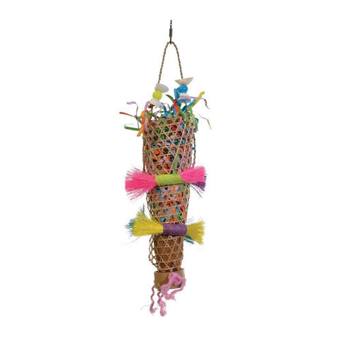 Prevue Pet Products Tropical Teasers Confetti Kazoo Bird Toy bird toys Pets Go Here, petsgohere