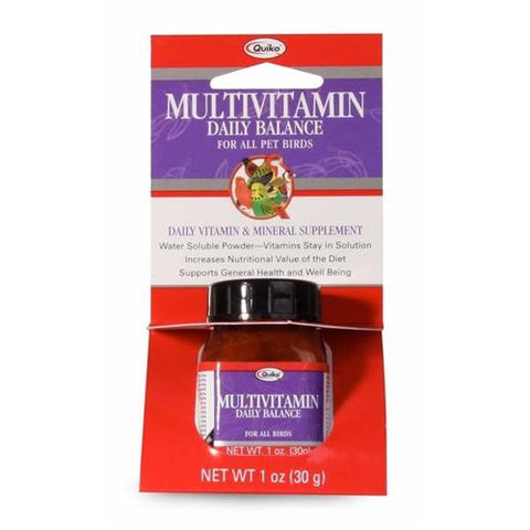 Quiko Multivitamin Daily Balance Powder For Birds 1 OZ bird health, bird supplements Pets Go Here, petsgohere