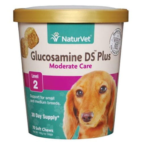 NaturVet Glucosamine DS Plus Level 2 Soft Chews for Dogs